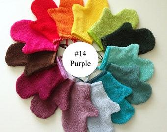 Purple Terrycloth Bath Mitt (#14)