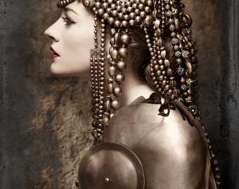 Bronze Headpiece - Beaded Headdress