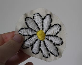 Hand sewn flower patch