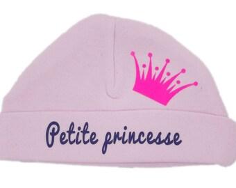 """Newborn baby bonnet pink """"Princess"""""""