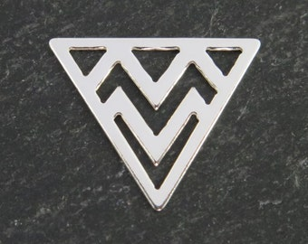 Sterling Silver Triangle Component 14mm