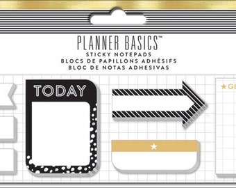 The Happy Planner - Create 365 - Me and My Big Ideas - Sticky Notes - Black, White and Gold