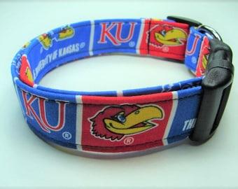KU University of Kansas Jayhawks Dog Collar