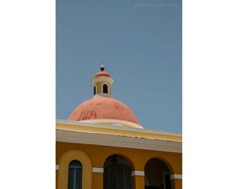 Architecture Photography Old San Juan Puerto Rico Travel Photography Pastel Decor Minimalist Art Dreamy Photography Pink Yellow Fine Art