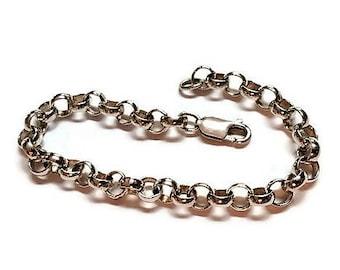Vintage Rolo Link Sterling Silver Bracelet