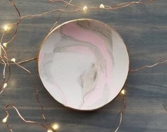 Blush Stone Marbled Ring Dish