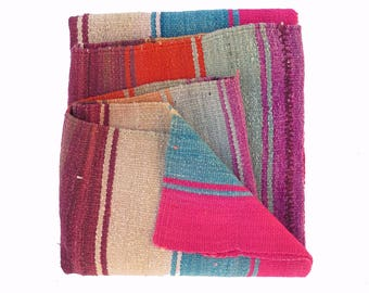 SALE ////  Peruvian Rug // Frazada  // wool rug // handwoven rug //