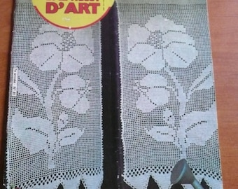 OLD FRENCH CROCHET magazine ( 1980)  crochet curtains