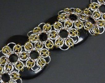 Sunflower Chainmaille Bracelet