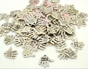 """Set of 50 hands """"hand made"""" charms"""