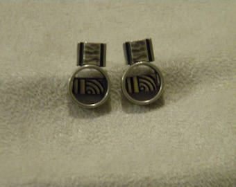 Sterling Silver And Gold Post Earrings