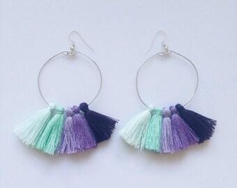 Tassel Hoop Earrings