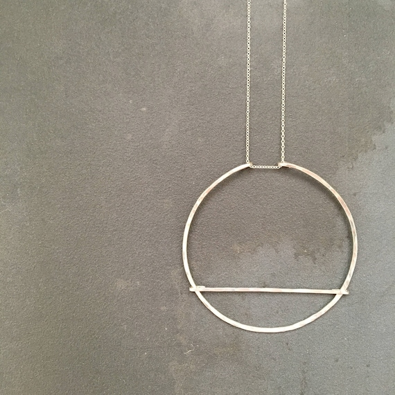Barred Circle Necklace