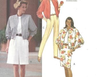 6169 Butterick  Jacket Skirt Shorts Pants size 12-14-16- Vintage FF