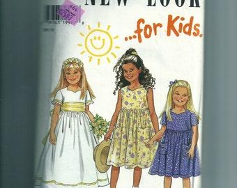 New Look Girl's Dress Pattern 6622