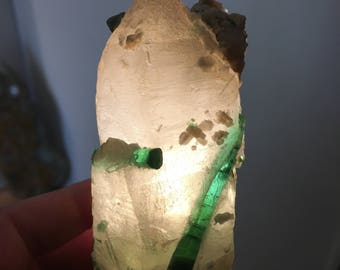 Green Tourmaline w/ Natural Citrine, Brasil