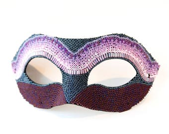 """Masquerade Mask for Women! Mardi Gras Mask, Masquerade Party, Lilac and Navy - Masked Ball, Womens Venetian Mask - The """"Cassiopeia"""""""