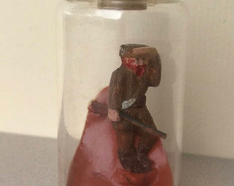 Vintage Handcrafted Mountain Man In a Bottle.