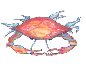 note cards:  crab