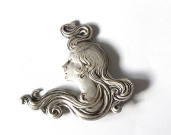 Art nouveau inspired brooch