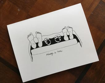 Menage a Trois Dog Notecards (Pack of 5)