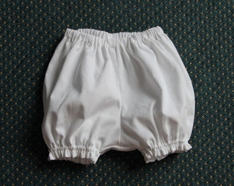 Bloomers in white velvet T 18 months