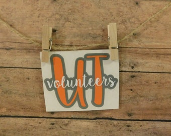 Custom Vinyl Decal | UT Volunteers Decal | University of Tennessee Vols