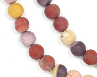 Mookaite Beads - Matte Finish - 6mm Round