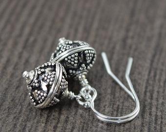 Geometric earrings triangle earrings aztec design in sterling silver  gifts for her