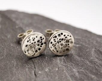 Full Moon Sterling Silver Earrings ~ earrings, silver, moon, birthdays, personalised, custom, cosmos, accessories, jewellery