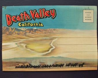 Death Valley California Vintage Souvenir Foldout Folder Postcards