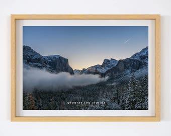 Yosemite Park - Wall Art Print, Tunnel View Yosemite Photography Print, Fine Art, Yosemite Photo Art Prints, Yosemite Landscape