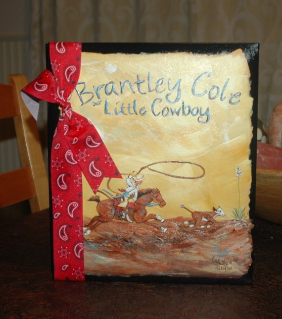 Little Cowboy Roper Baby Memory Book