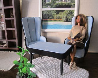 Designer Quality Pale Blue /Black Set of 3. The best and beautiful gift for your Doll !!!