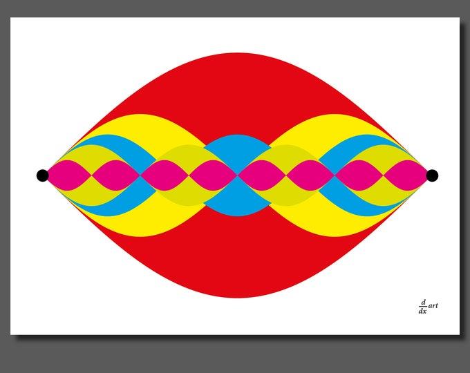 Harmonics 01 [mathematical abstract art print, unframed) A4/A3 sizes