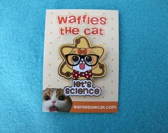Let's Science Cute Cat Nerd Enamel Pin