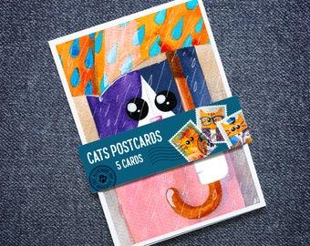 Tuxedo Cats Postcards (A6) - Set of 5 – ALLCATSGOOD