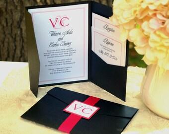 Liebe Serie - Pocketfold Einladung zur Hochzeit