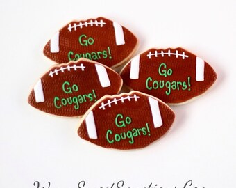 Half Dz. Football Cookies! Birthday Favors and Sports Fanatics