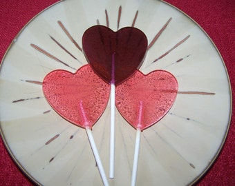 16 Smooth Heart Lollipops Sucker Candy Party Favor