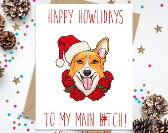 Funny Greeting Card, Holiday Card, Funny Christmas Card, Card for Her, Card for Best friend, Card for Sister, Blank Greeting Card