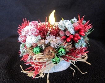 Christmas Birchbark Candle Holder