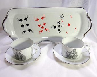 Top, 2 cups and 2 saucers set