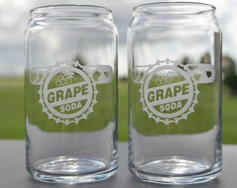 Grape soda pin design UP! inspired Glasses Your Choice by Jackglass on Etsy