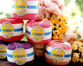 Mercerized Cotton Yarn - Cotton Thread Size #20 - Crochet Thread - 50grams ball - 100% Mercerized Cotton Thread