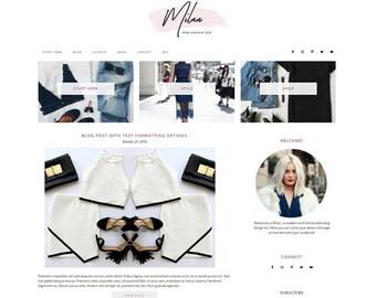 Responsive WordPress Theme   Milan Fashionable Blog Design   WordPress Template   Genesis Child Theme