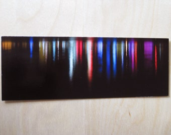 City lights abstract reflections bookmark