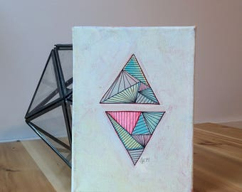 Abstract Triangles on Canvas