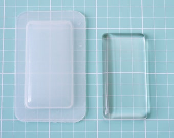 """NEW 24x48mm Domed Domino for Pendant Trays Plastic Resin Mold 24mm x 48mm or 1"""" x 2"""" GT2448"""