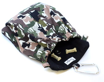 The Pocket 2.0 - Treat and Training Pouch - Camo Dog